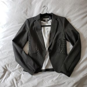 H&M Classic Single Button Fitted Gray Blazer